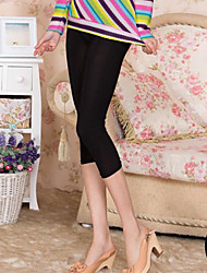 Women Solid Color Legging , Ice Silk Thin