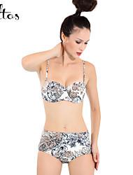 Valtos Women's Monochrome High-waist Bikini set