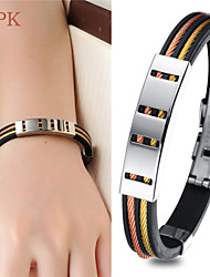 OPK®Gold Wire Drawing Fashion and Personality Concave and Convex Cross Quality Titanium Steel Bracelet