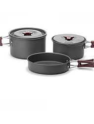 fogo-de bordo acampamento ao ar livre panelas definir FMC-202 2-3 piquenique com pot pan bowl tableware