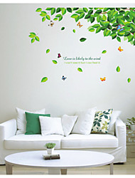 Wandaufkleber Wandtattoo, grünen Baum PVC-Wandaufkleber