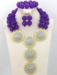 Amazing New Nigerian Wedding Beads Jewelry Set Bridal Crystal Balls Necklace Set Unique Beads Design