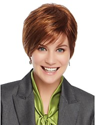 Capless Short  Charming Wavy Human Hair Wig