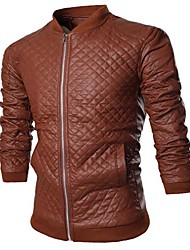 Men PU Outerwear , Lined