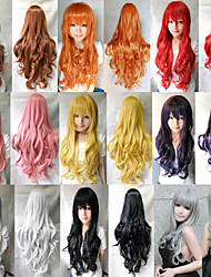 Heat Resistant Bang Long Wavy Curly Cosplay Anime Wigs