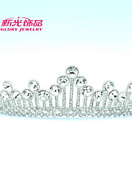 Neoglory Jewelry Clear Austrian Rhinestone Trendy Tiara Crown Hair Accessories for Lady Wedding Pageant
