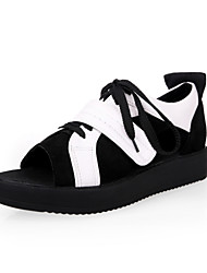Women's Shoes Low Heel Peep Toe/Comfort Sandals Office & Career/Dress Black/Pink/Purple