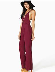 Nikki  Women's Casual/Work Sleeveless Jumpsuit (Polyester)