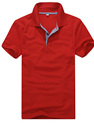 pierce semplice coreano all-abbinato il check maglietta polo shirt manica corta