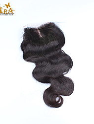 "10""-20"" Black Full Lace Body Wave Human Hair Closure Medium Brown Chinese Lace 60g/piece gram Cap Size"