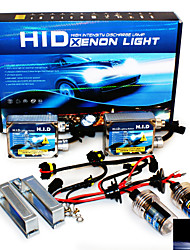 Super Vision Headlamps 4200LM 9-16V 20A 35W H1 12000K High Brightness Xenon HID Conversion Kit