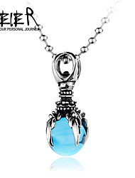 Man's Super Cool Blue CZ Eagle Claw Pendant For Man
