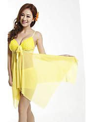 Women 2015 New Beachwear Polyester/Spandex Padded Bras Halter Tankinis SM4A49