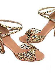 Zapatos de baile (Leopardo) - Danza latina - No Personalizable - Tacón Luis XV