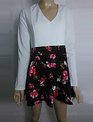 Coco Zhang toda a partida v pescoço mini vestido floral