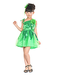 Performance Dresses Children's Polyester Sequins Flowers Dress(More Colors) Kids Dance Costumes