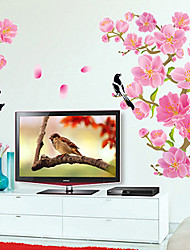 Wall Stickers Wall Decals, Flowers and Birds PVC Wall Stickers