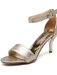 Women's Shoes Stiletto Heel /Open Toe/Ankle Strap/Sandals Dress /Gold/Silver