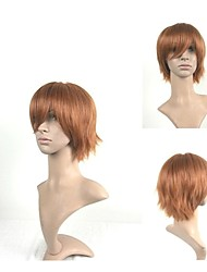 Stylish Cosplay Wig Natural Wigs Man's Wigs Light Brown Short Straight Animated Synthetic Hair Wigs