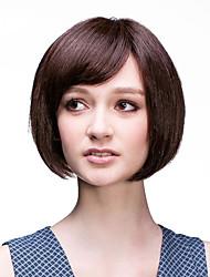 Capless Short  Brown Bob Human Hair Wigs