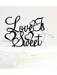 Cake Toppers Acrylic Love Is Sweet Cake Topper