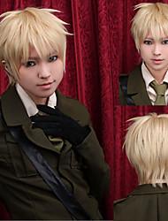 angelaicos мужчины Артур Киркланд APH оси силы мальчик блондинка слоистых Хэллоуин косплей парики