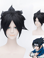 Naruto Uchiha Sasuke black short cosplay wig