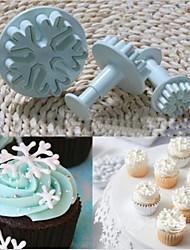 natal floco de neve fondant bolinho bolo molde decoração êmbolo