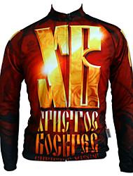 Getmoving® Camisa para Ciclismo Homens Manga Comprida Moto Respirável / Design Anatômico / Anti-Insectos / Vestível / Bolso Traseiro