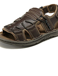 Men's Shoes Outdoor Leather Sandals Brown/Khaki