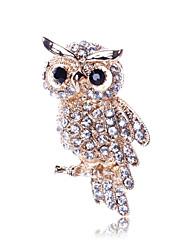 Simple fashion diamond diamond brooch owl suit accessories scarf buckle pin 0182#