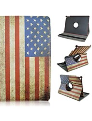 9.7 Inch 360 Degree Rotation Flag Pattern with Stand Case and Pen for iPad Air 2/iPad 6