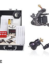 2 Tattoo-Maschinen Tattoo-Set mit LCD Power
