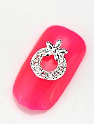 New 10PCS RG064 Luxury Mini Zircon 3D Alloy Nail art Decoration Diamond Nail Salon Supplier DIY Accessories