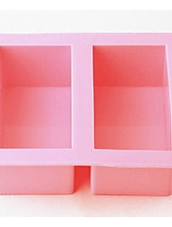 Fashion Square Shape Silicone Soap Ice Making Mold Kitchen Bakeware Cake Cooking Tools On Sale (Random Color)