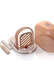 PEARL KINZOKU DIY Bread Loaf Toast Slicer with Storage Box