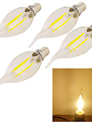 Lampadine LED a incandescenza 4 YouOKLight E14 Decorativo 320 LM Bianco caldo 4 pezzi V