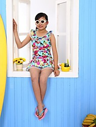 Girl's Fashion Cute Sleeveless Swimwear