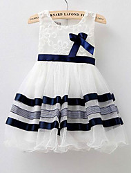 Kid's Beach/Casual/Cute/Party Dresses (Chiffon/Cotton)