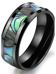 Tungsten Shell Black Colour Mens Wedding Ring Size 6 - 10
