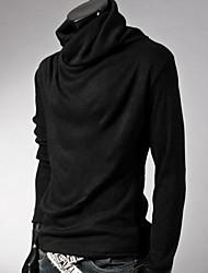 Camisetas ( Algodón Compuesto/Poliéster )- Casual/Trabajo Redondo Manga Larga para Hombre