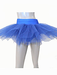 7 Layers Half Nylon/Lycra Dance Tutus More Colors for Ladies and Girls