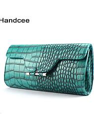 Crocodile embossed Pu hand bag