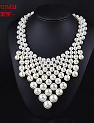 European and American fashion models temperament tassel pearl pendant necklace Ms.