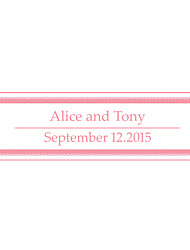 Wedding Décor Personalized   Banner - Pink Pattern