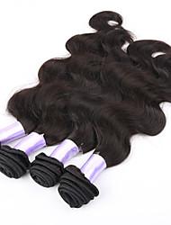 """3pcs lot 8 """"-30"""" mongolisches reines Haar Körperwelle 6a 100% unverarbeitete natürliche schwarze Menschenhaareinschlagfaden Haar"""