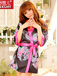Shuxuer ® Women Polyester Robes/Ultra Sexy Robe (with T-back And Belt)
