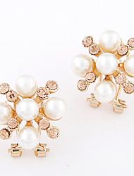 Damen Ohrring Legierung Strass Stud Earrings
