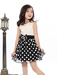 Girl's Rose Polka Dot Dress