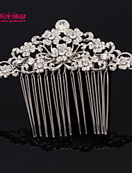 Neoglory Jewelry Alloy Rhinestone Flower Hair Combs Hairpins Wedding Accessories